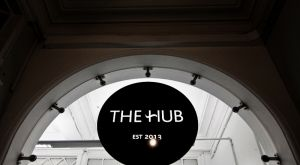 The Hub - New glazed partition entrance