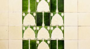 The Hub - conservation of listed corridor ceramic tiling
